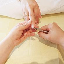 爪をカットし、お好みの長さ形に整えます。